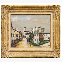 173 | UTRILLO Maurice: PAYSAGE À LUCENAY
