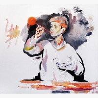 105 | KRAJC Martin: BOY WITH AN ORANGE BUBBLE (Z CYKLU VANITAS)